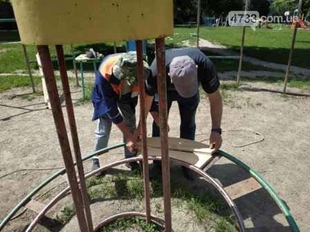 Один із найстаріших спортивних майданчиків реставрують у Смілі, фото-2