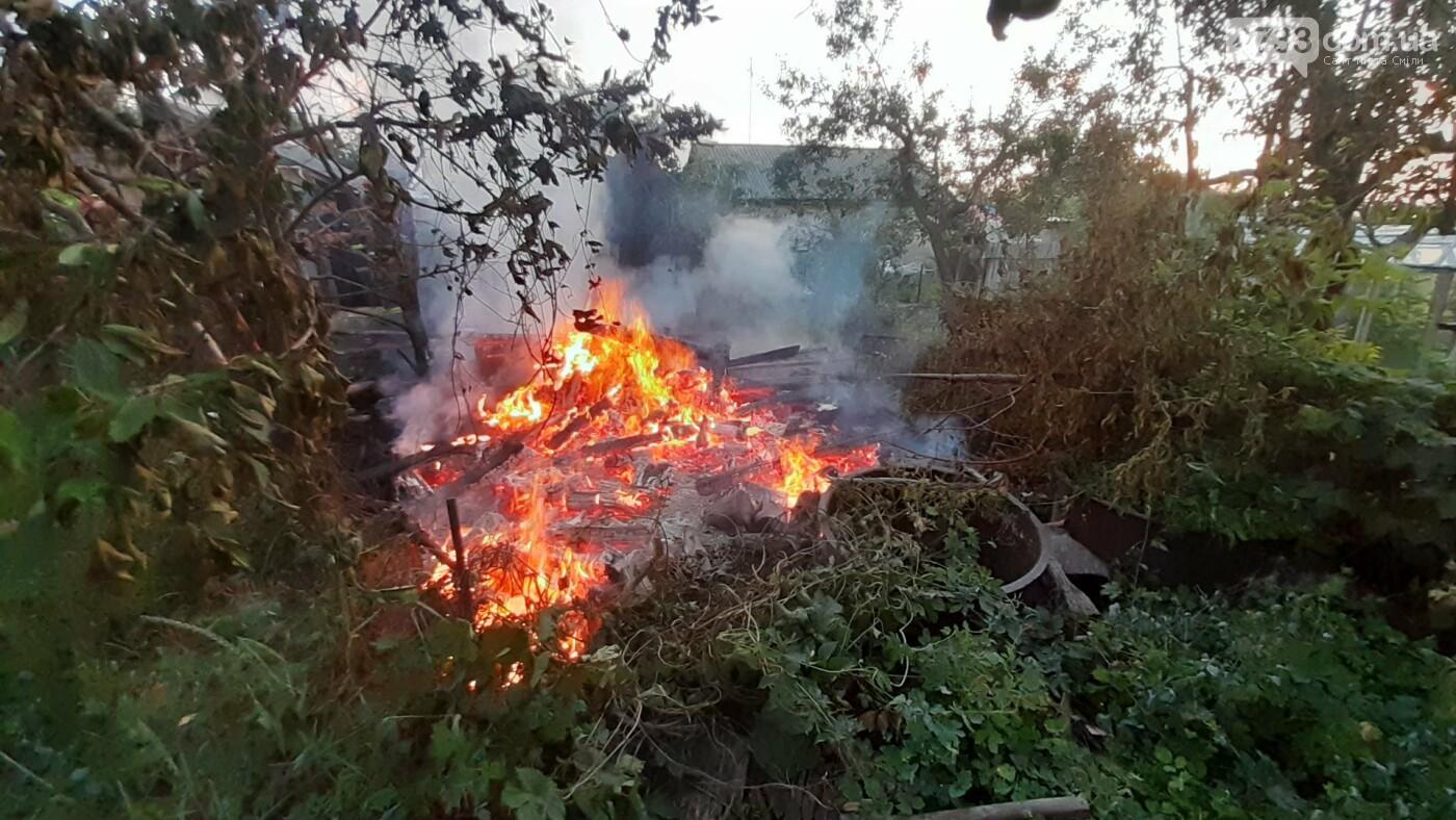 У Смілі тушили пожежу у дровнику, фото-1