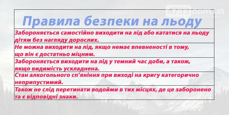 Поліцейські нагадали про правила безпеки на льоду, фото-1, Сергій Притула
