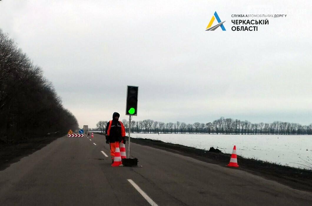 Розпочалися поточні ремонтні роботи на автодорозі від Черкас до Сміли. Рух ускладнено, фото-3